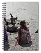 Children At The Pond 2 Spiral Notebook