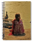 Children At The Pond 4 Spiral Notebook