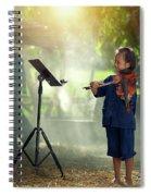 Children In Folk Costumes Playing Violin In Thailand Spiral Notebook
