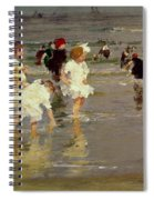 Children On The Beach Spiral Notebook