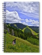 Children On Vail Mountain Spiral Notebook