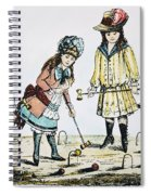 Children Playing Croquet Spiral Notebook