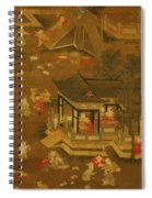 Children Playing In The Palace Garden Spiral Notebook