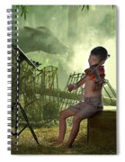 Children Playing Violin In The Folk Style. Spiral Notebook