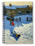 Children Sledging Spiral Notebook