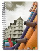 Childrens Play Areas Contrast With The Victorian Elegance Of The Grand Hotel In Llandudno Wales Uk Spiral Notebook