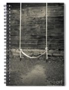 Child's Swing On An Old Farm Spiral Notebook