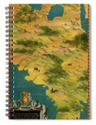 Chile And Argentina With The Magellan Strait Spiral Notebook