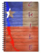 Chile Rustic Map On Wood Spiral Notebook