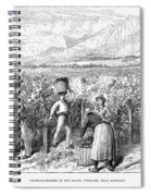 Chile: Wine Harvest, 1889 Spiral Notebook