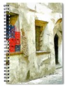 Chilli Peppers And Onions Hanging On The Wall Spiral Notebook