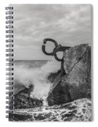 Chillidas Comb Of The Wind In San Sebastian Basque Country Spain  Spiral Notebook