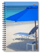 Chilling On The Beach Anguilla Caribbean Spiral Notebook
