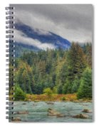 Chillkoot River Hdr Paint Spiral Notebook