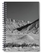 Chimney Rock In Black And White - Towaoc Colorado Spiral Notebook