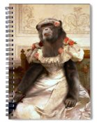 Chimp In Gown  Spiral Notebook