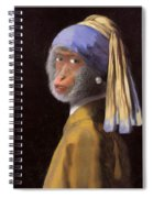 Chimp With A Pearl Earring Spiral Notebook
