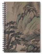 China Ancient Landscape Spiral Notebook
