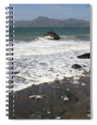 China Beach With Outgoing Wave Spiral Notebook