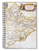 China: Fujian Map, 1662 Spiral Notebook