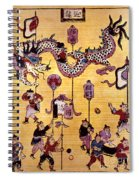 China: New Year Card Spiral Notebook