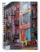 China Town Buildings Spiral Notebook