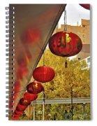Chinatown - Chinese Lanterns Spiral Notebook