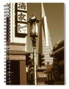 San Francisco Chinatown And Pyramid Spiral Notebook