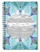Chinease Ketubah- Reformed And Interfaithversion Spiral Notebook