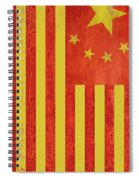 Chinese American Flag Vertical Spiral Notebook