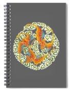 Chinese Bats Tee Shirt Design Spiral Notebook