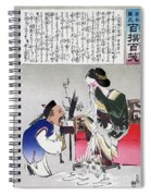 Chinese Cartoon, C1895 Spiral Notebook