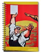Chinese Communist Party Workers Proletariat Propaganda Poster Spiral Notebook