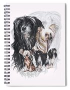 Chinese Crested And Powderpuff W/ghost Spiral Notebook