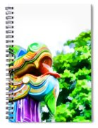 Chinese Dragon Ride Spiral Notebook