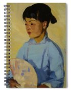 Chinese Girl With Fan 1914  Spiral Notebook