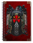 Chinese Masks - Large Masks Series - The Red Face Spiral Notebook