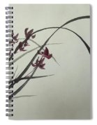 Chinese Orchid Spiral Notebook
