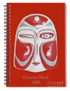 Chinese Porcelain Mask Red Spiral Notebook