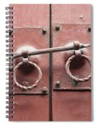 Chinese Red Door With Lock Spiral Notebook