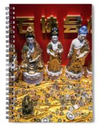 Chinese Religious Trinkets And Statues On Display In Xiamen Chin Spiral Notebook