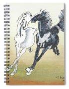 Chinese Running Horses Spiral Notebook