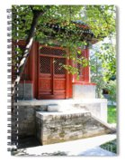Chinese Temple Garden Spiral Notebook