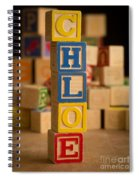 Chloe - Alphabet Blocks Spiral Notebook