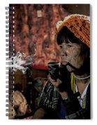 Cho Chin Woman Smoking  Spiral Notebook