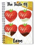 Chocolate - 7  Strawberry Spiral Notebook