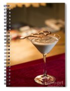 Chocolate And Cream Martini Cocktail Spiral Notebook