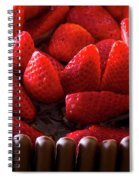 Chocolate And Strawberry Cake Spiral Notebook