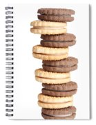 Chocolate And Vanilla Creamed Filled Cookies  Spiral Notebook