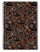Chocolate Brown Paisley Design Spiral Notebook